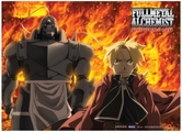 Fullmetal Alchemist Brotherhood: Ed and Al Fire Anime Wall Scroll