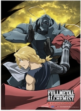 Fullmetal Alchemist Brotherhood: Ed and Al Moon Anime Wall Scroll