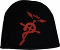 FullMetal Alchemist Brotherhood: Red Flamel Cross Black Beanie