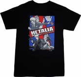 Hetalia Axis Powers: England, Sealand, and America T-Shirt