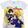 Hetalia: England and Japan with Cats Sublimation Junior T-Shirt