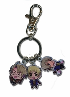 Hetalia World Series: SD America, England & Russia Metal Key Chain