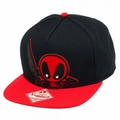 Marvel Kawaii Deadpool Black Snapback Cap