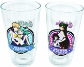 Sailor Moon: Uranus/Neptune and Saturn/Pluto Pint Glass Set of 2