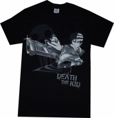 Soul Eater: Death The Kid Crossed Pistols Black T-Shirt