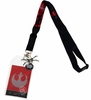 Star Wars X-Wing Lanyard with Sticker ID Badge Holder & Metal  Charm