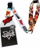 Street Fighter Lanyard with Sticker ID Badge Holder and Fight Charm