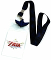 Legend of Zelda Skyward Sword Blue Triforce Black Lanyard