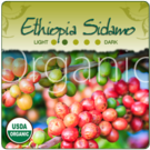 Organic Ethiopia Sidamo Fair-Trade Coffee 1lb (16 oz)