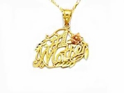 #1 Mother Women's 14k Gold Necklace
