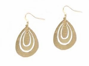 Triple Oval Hoop Earrings-Gold Tone Costume Jewelry