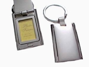 Key Chain-Silver Tone Photo Frame