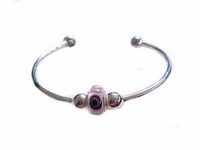"Plus Size Bracelet-Cape Cod Cuff-7-8""-Eye Charm"