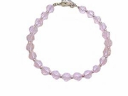 Plus Size Bracelet Pink Beads-7-8 or 9 Inch