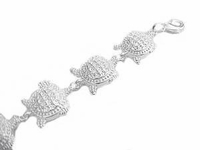 Plus Size Bracelet-Turtles 7 to 8.5 Inch Long
