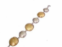 Plus Size Bracelet Two Tone Circles-Costume Jewelry