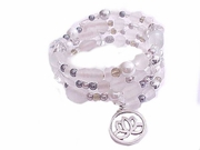 Plus Size Bracelet White Spiral with Charm Style 2