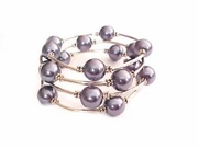 Plus Size Bracelet Women's Deep Purple Spiral