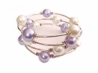 Plus Size Bracelet Women's Purple and White Spiral