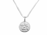 Plus Size Necklace Sterling Silver Guardian Angel