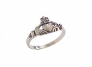 Plus Size Ring-Claddagh Stainless Steel Ring-Size 5 to Size 18