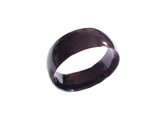 plus size ring stainless steel black band size 9 18