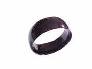 Plus Size Ring Stainless Steel Black Band Size 11-18
