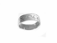 Plus Size Ring Stainless Steel Crested Waves