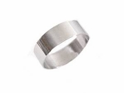 Plus Size Ring Stainless Steel Wide Band Women or Men