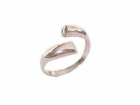 Plus Size Ring Sterling Silver Polished Bypass