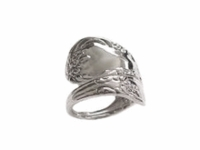 Plus Size Ring Sterling Silver Spoon Ring