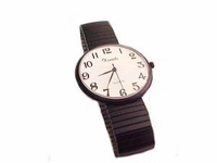 Plus Size Watch Black EZ Read Stretch Men or Women
