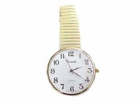 Plus Size Watch-Men's Stretch Easy Read Gold-Style 76