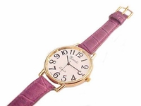 Plus Size Watch Gold and Purple Strap to 8.5 Inch