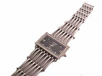 Plus Size Watch Large Rectangle Face Silver Tone