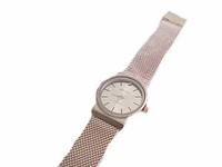 Plus Size Watch-Men's Silver Tone Mesh-9 Inch