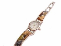 Plus Size Watch Womens Simulated Neutral Stones 8 Inch