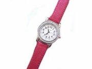 Plus Size Watch-Silver Tone-Red (Style 99)