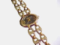 Plus Size Watch Two Tone Oval Face Metal Band 8.5 Inch