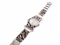 Plus Size Watch-Women's Animal Print Silver Tone-8 Inch