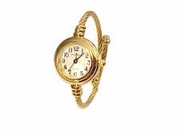 Plus Size Watch Women's Cable Wrap-Gold Tone