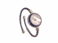 Plus Size Watch Women's Cable Wrap-Navy and Silver