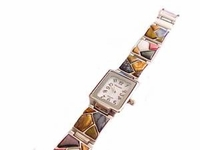 Plus Size Watch-Women's Silver Tone Stone-8 Inch