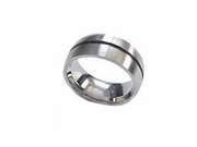 Plus Size Ring Stainless Steel Wedding Band Accent