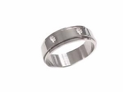 Stainless Steel Worry Ring Shamrock Plus Size