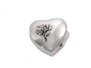 Sterling Silver Pill Box-Rose