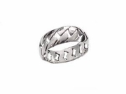 Plus Size Ring Sterling Silver Woven Band Size 15