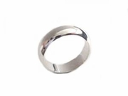 Sterling Silver Ring Plain Rounded Band-Plus Size Ring