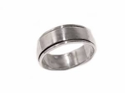 Sterling Silver Spinner/Worry Ring- Flat Band