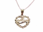 Plus Size Women's 14k Gold Heart Necklace with Mom